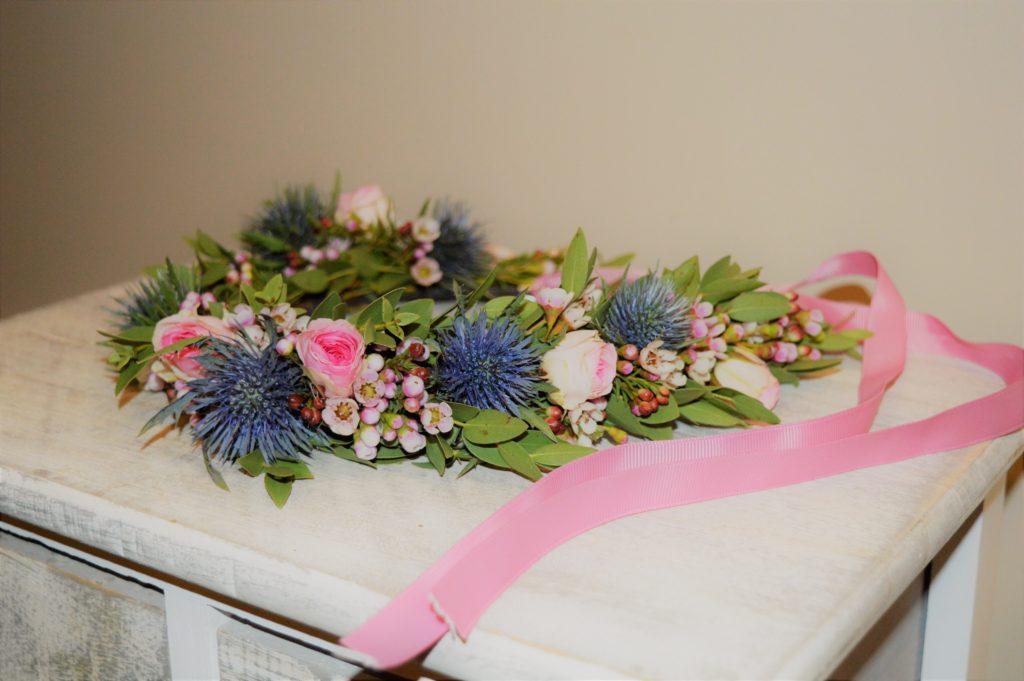 cours art floral rive de gier fleuriste mariage couronne fleurs